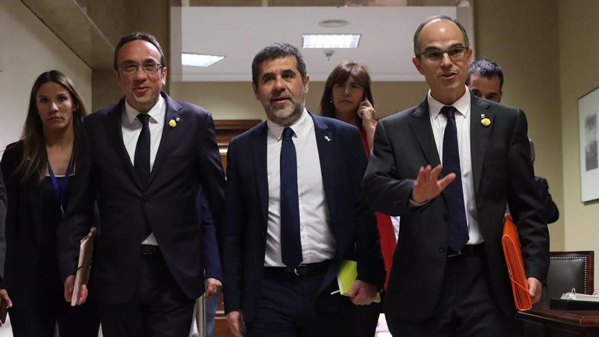 Josep Rull, Jordi Sànchez y Jordi Turull.