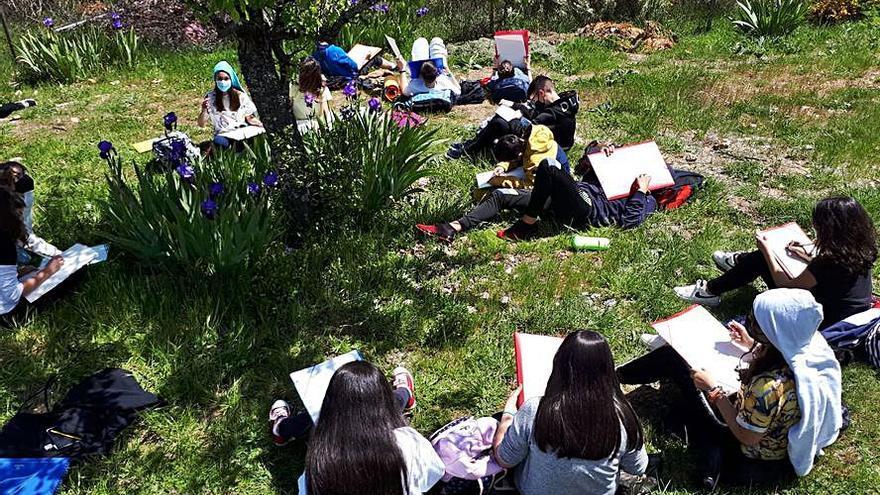 """Aulas en el """"Jardín Lucerna"""" para reflejar la naturaleza"""