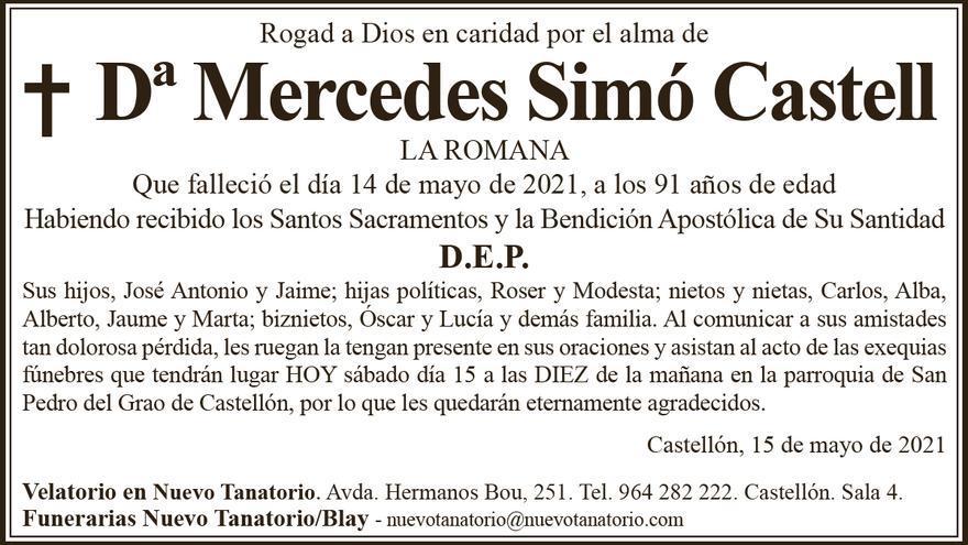 Dª Mercedes Simó Castell