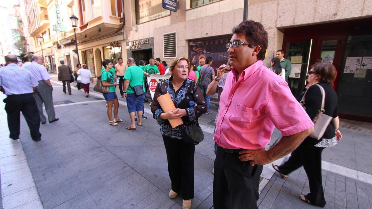Una protesta de la PAH en Zamora