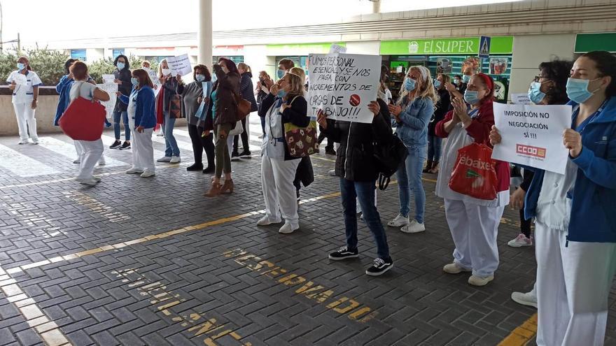 Así ha sido el segundo día de protestas del personal de limpieza de Son Espases