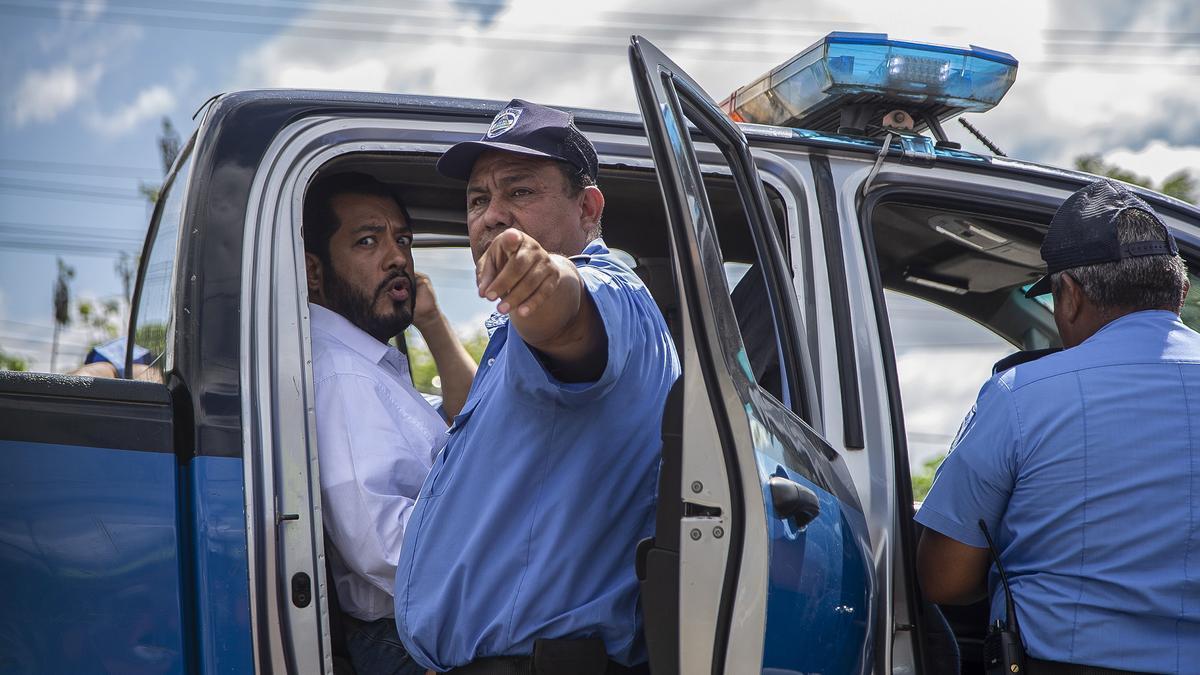 Policía nicaragüense.