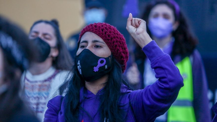 El 8M, un grito de feminismo bajo la mascarilla