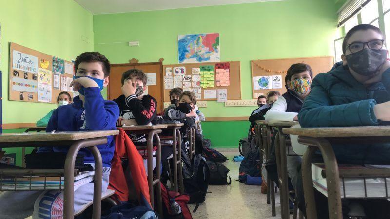 Videollamada en el Colegio El Buen Pastor a otros jóvenes europeos