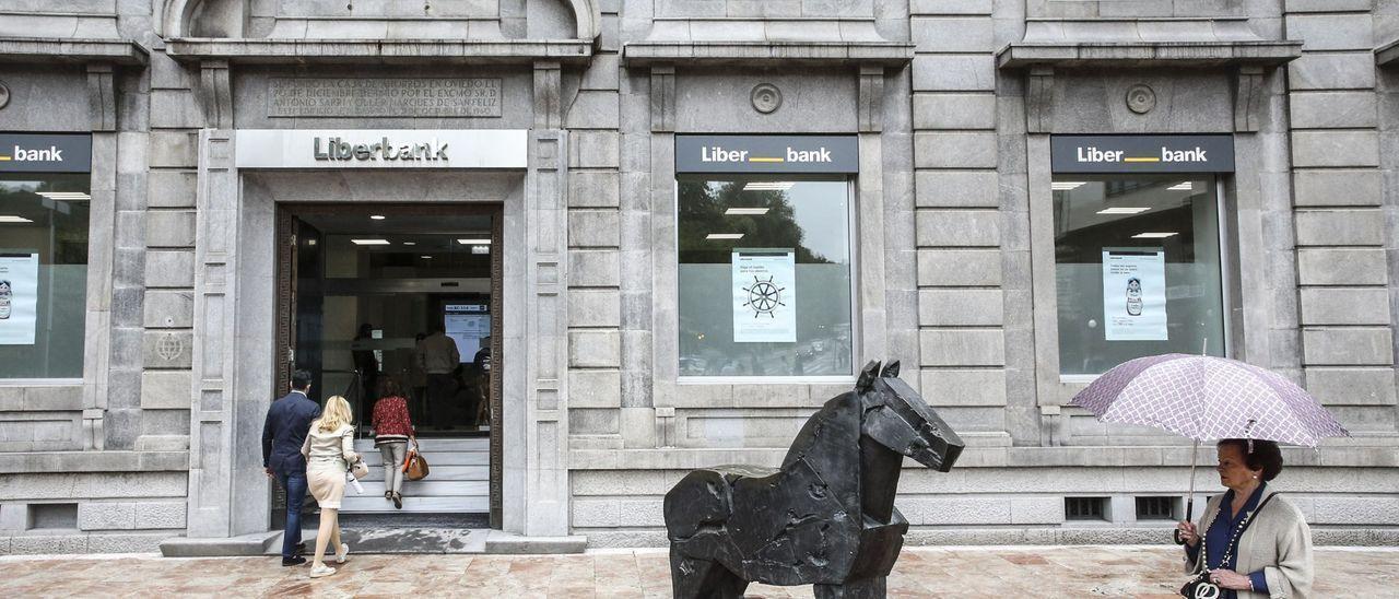 Sede central de Liberbank en Oviedo.