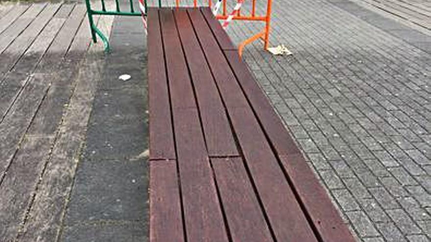 Prosiguen las tareas para acondicionar el mobiliario urbano