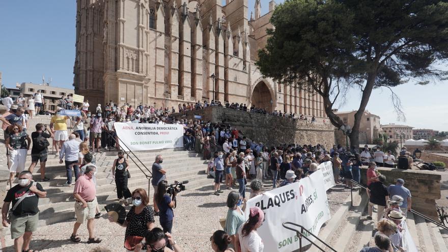 Protesta contra la ampliación del aeropuerto de Palma
