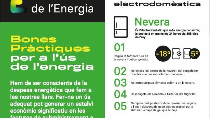 Una guía de buenas prácticas ofrece consejos para ahorrar energía