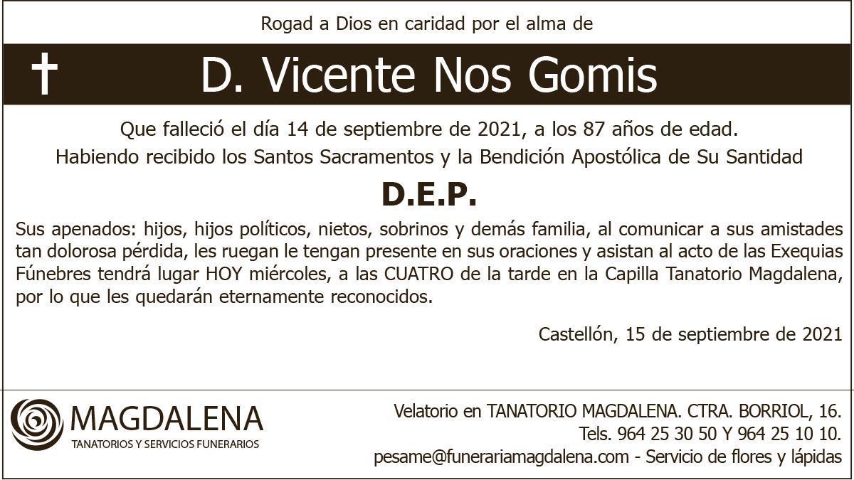 D. Vicente Nos Gomis