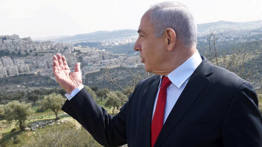 """Netanyahu, """"confiado"""" de poder anexionar parte de Cisjordania en dos meses"""
