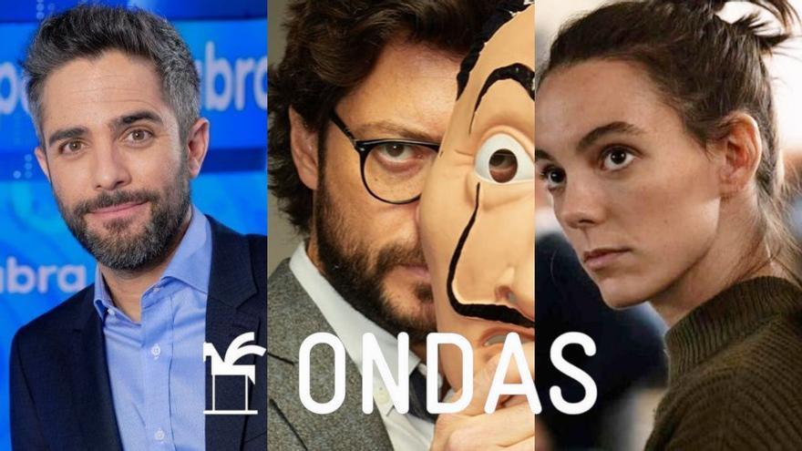 Roberto Leal, Álvaro Leal y Vicky Luengo, Premios Ondas 2021 en televisión