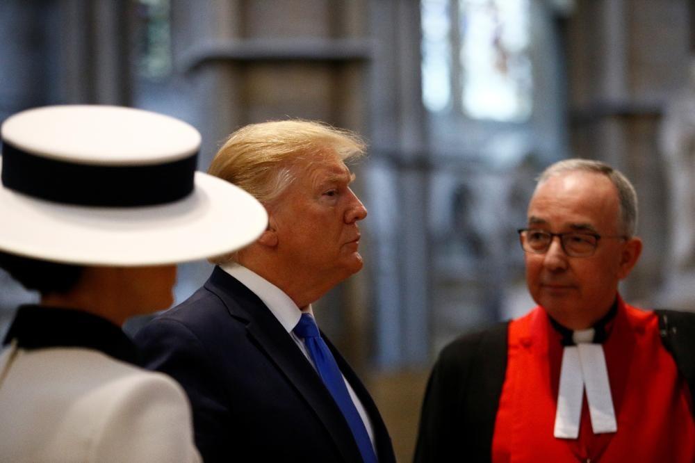 La visita de Trump a Londres, en imatges