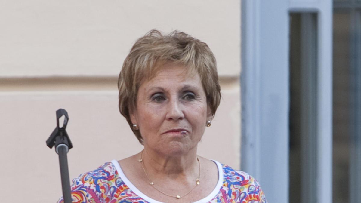 """Nieves Pla, en la presentación de """"La Pasqua"""" en la Casa de la Cultura de Xàtiva en 2015."""