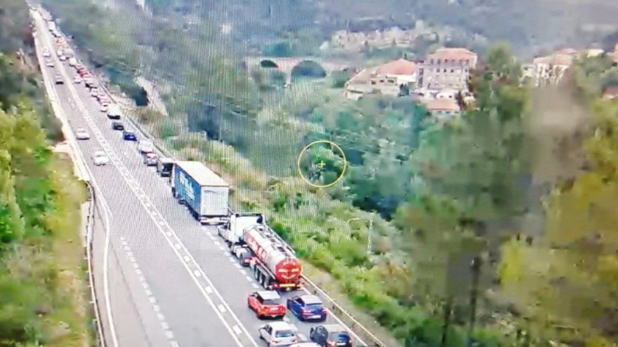 Un motorista resulta ferit greu en un accident a la C-55, a Castellbell