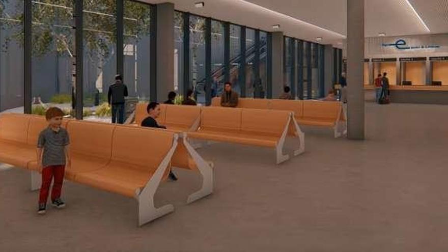 Una sala de espera de 300 m2