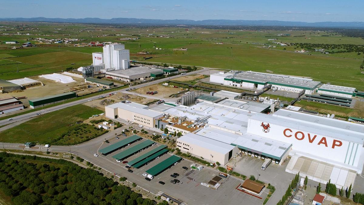 Vista aérea del complejo industrial de Covap.