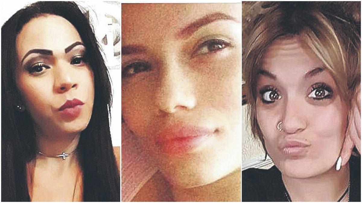 Las víctimas: Arliene Ramos, Lady Marcela y Marta Calvo.