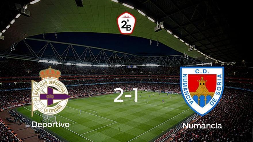 Los tres puntos se quedan en casa: Deportivo 2-1 Numancia