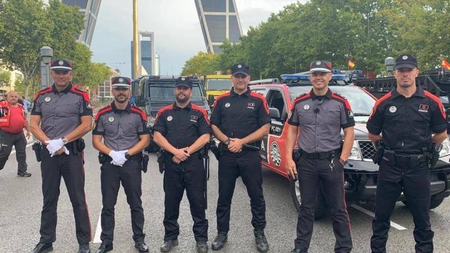 La Policía Canaria, presente por primera vez en el desfile de la Fiesta Nacional