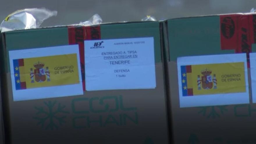 Llegada de las vacunas contra el Covid-19 a Tenerife