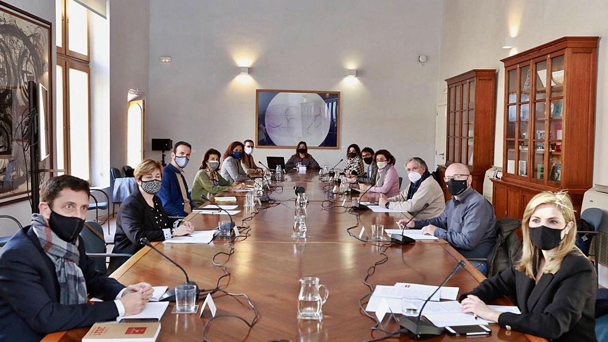 Imagen de la reunión del Pacto para la Reactivación celebrada ayer.