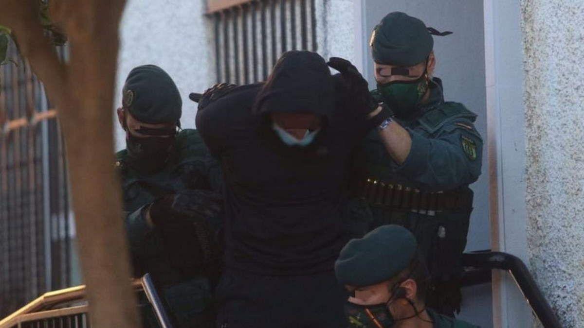 'El Melillero', siendo conducido a los juzgados para declarar.