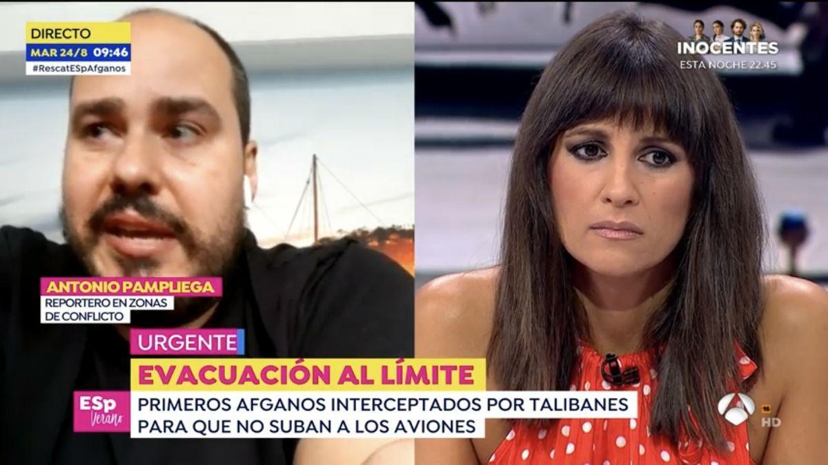 Antonio Pampliega y Lorena García.