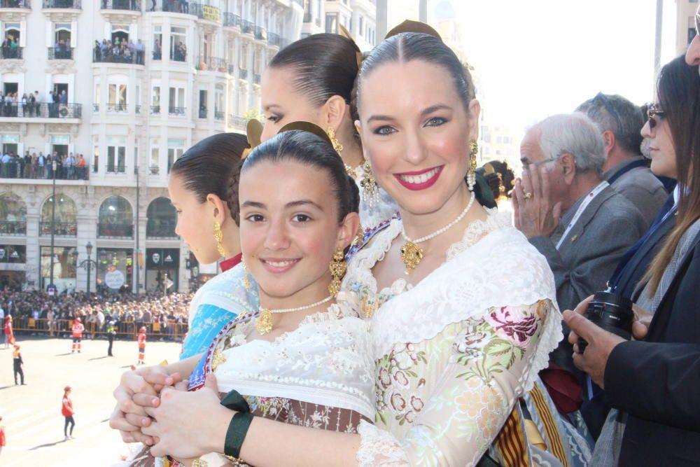 Lucía Guijarro y Paula Santarrufina, antes...