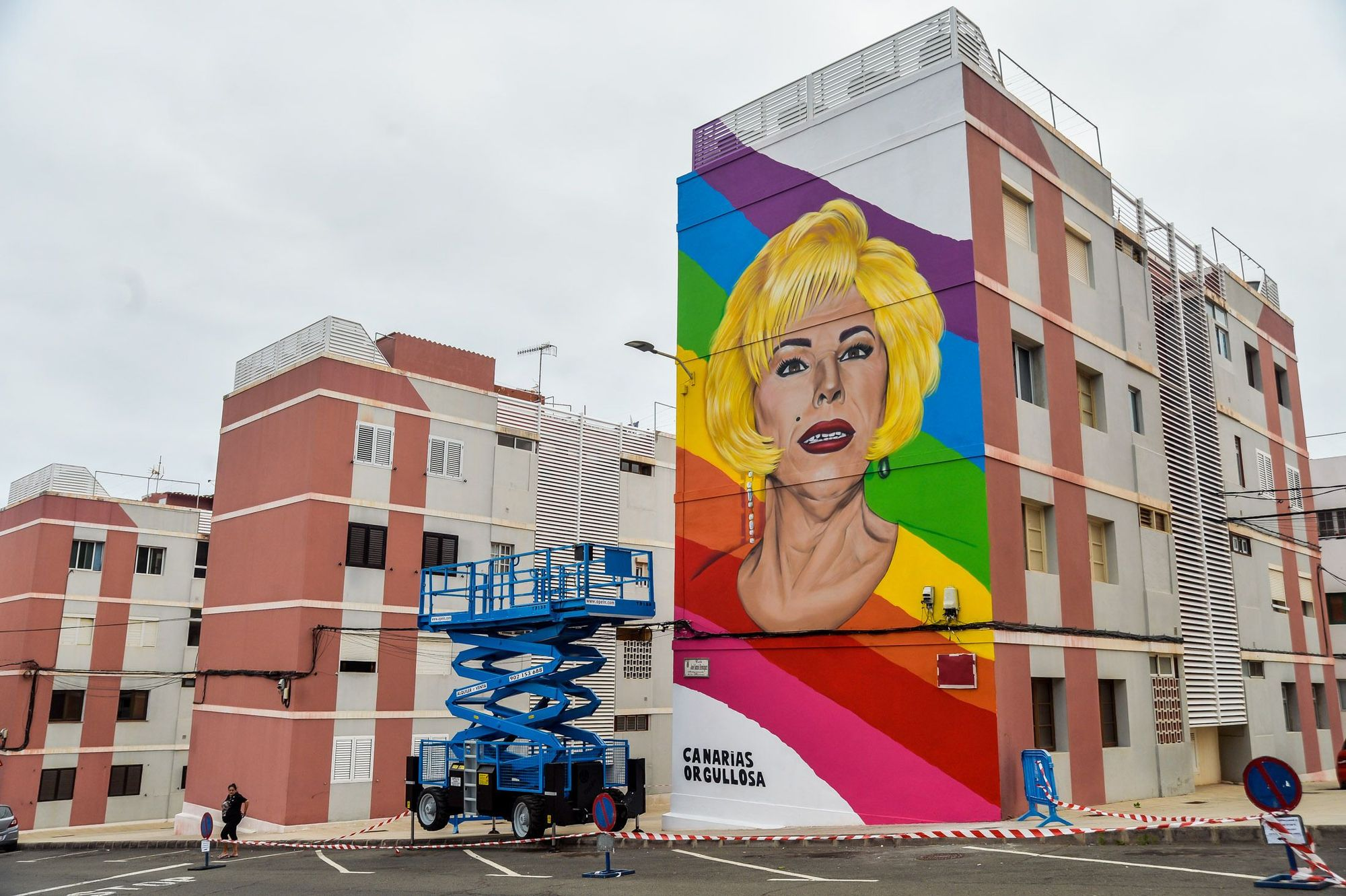Mural del artista Xayo