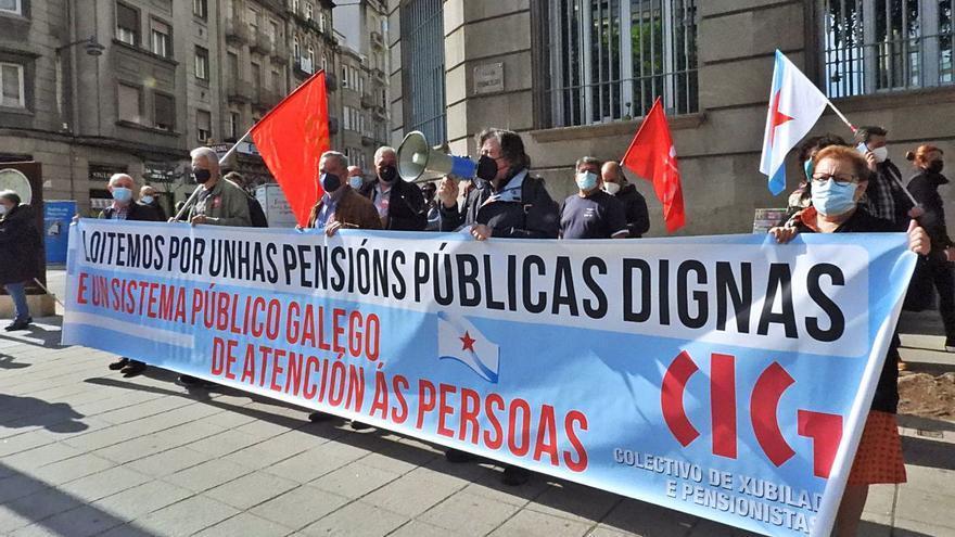 Protesta por una pensión digna, en la provincia de las micropensiones
