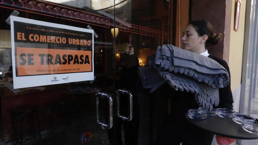 Einzelhändler protestieren gegen Verkehrsberuhigung in Palma de Mallorca