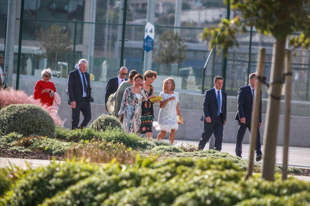 Los invitados antes de salir hacia la Fortalesa de Pollença.