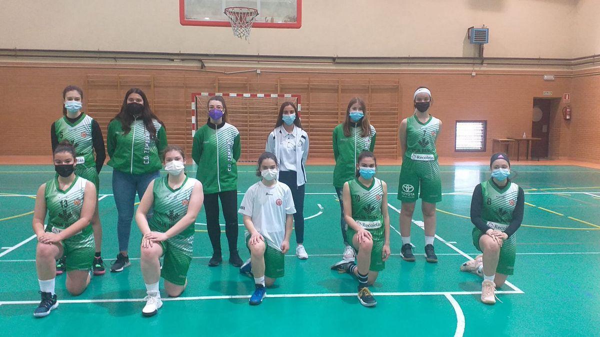 Formación del equipo cadete Caja Rural CD Zamarat