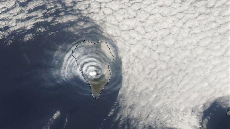 La nube con dióxido de azufre del volcán de La Palma viaja hasta Puerto Rico