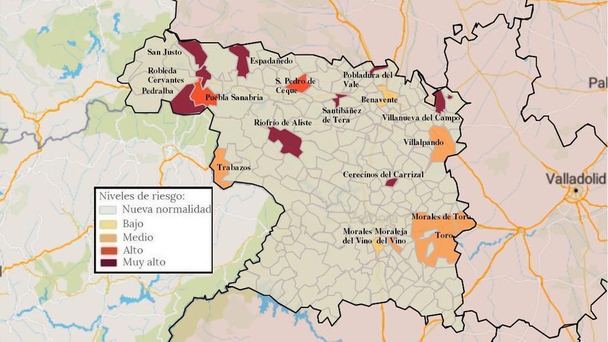 Mapa de coronavirus de Zamora, hoy, jueves | Morales de Toro y Trabazos vuelven a tener casos