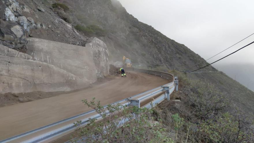 El Cabildo anuncia la reapertura al tráfico de la HI-50 de acceso a Sabinosa