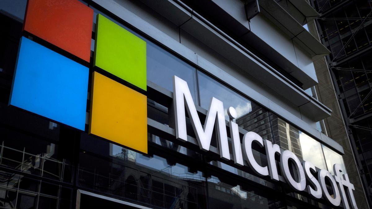 Un logo de Microsoft.