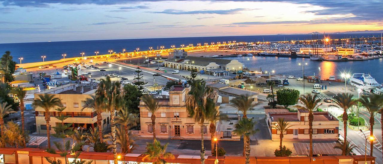 Imagen panorámica del recinto portuario de Torrevieja, en el que está prevista la concesión de usos de hostelería, ocio y comerciales náuticos.  