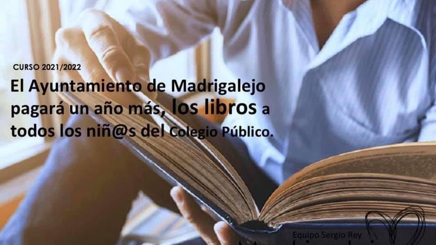 El Ayuntamiento de Madrigalejo asumirá el coste de los libros de texto