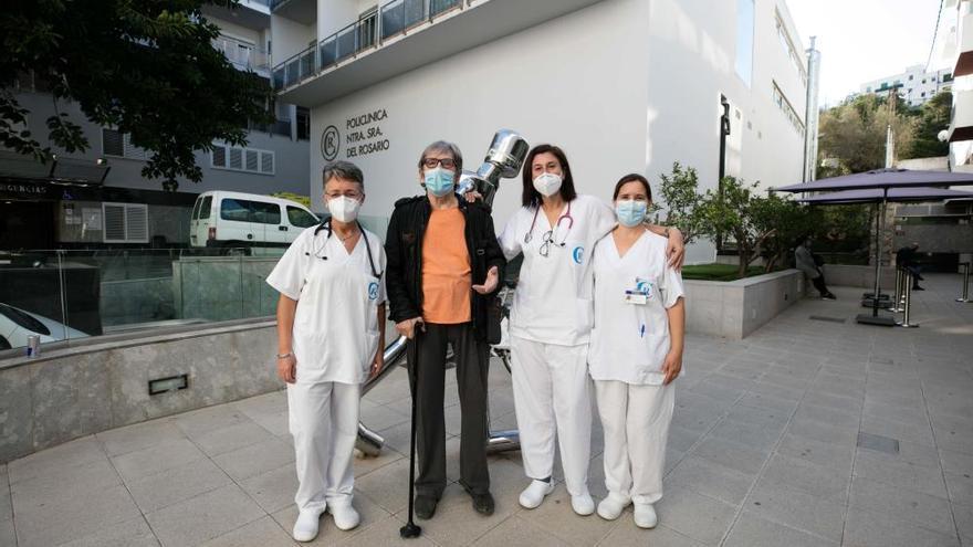 Boda en una cama de hospital de Ibiza por el coronavirus