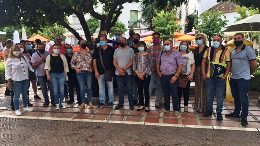 Primeras protestas de los trabajadores contra los ajustes en el Ayuntamiento de Marbella