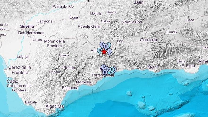 Registrado un terremoto de magnitud 3,4 con epicentro en Antequera