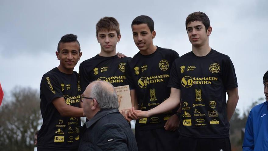 El San Paio, mejor equipo cadete del Campeonato Gallego de Cross Corto