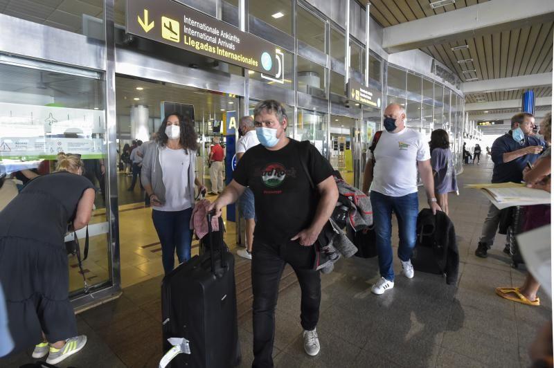 Llegada de turistas con prueba PCR