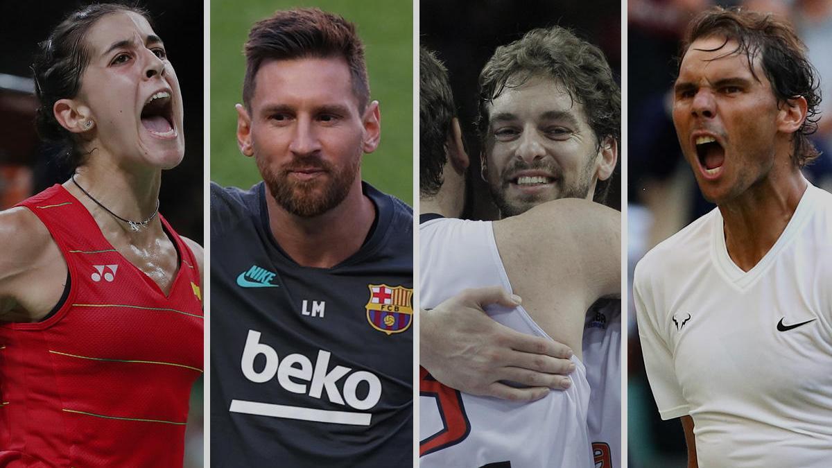 Carolina Marín, Leo Messi, la Fundación Gasol y Rafa Nadal, Premios Valores 2020.