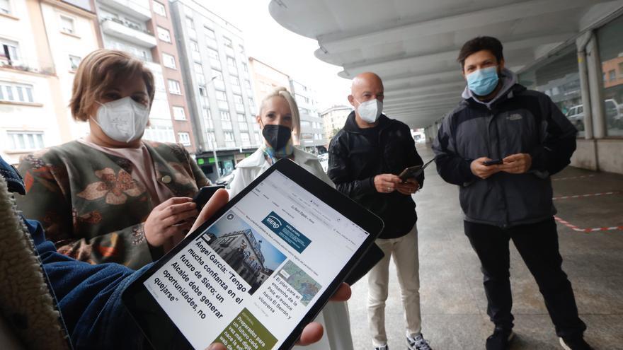 Los sierenses aplauden la llegada de la nueva edición digital de LA NUEVA ESPAÑA