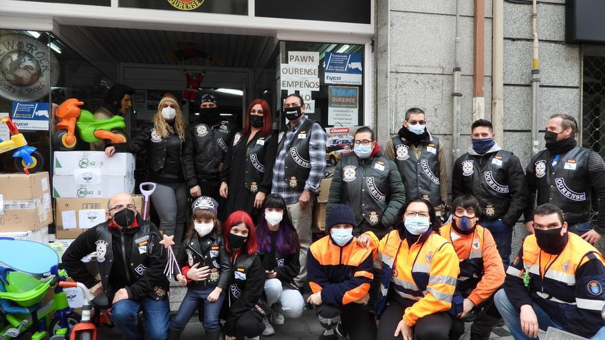 Los regalos de Reyes en Ourense se llevan en moto