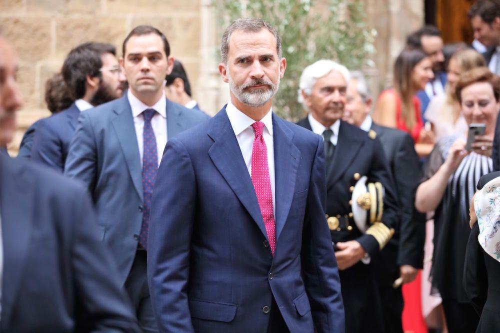 El rey Felipe VI, en Palma por la boda de su ahijada