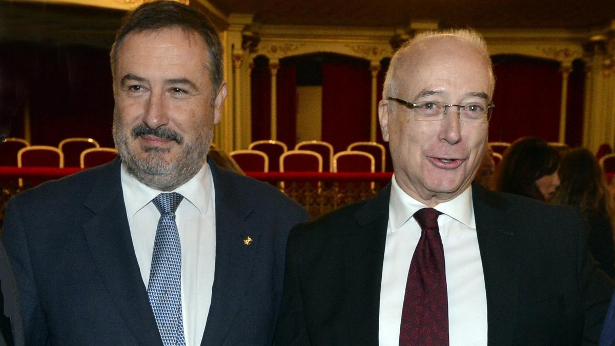 Luis Mesa del Castillo y Pedro Hernández en una foto de archivo.