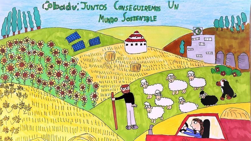 Raquel Carmen García, ganadora del premio de dibujo de la cooperativa zamorana Cobadu